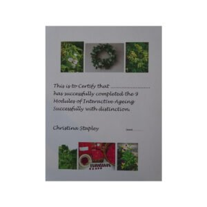 Ageing Successfully Certificate. Medical Herbalist, Medical Herbalist Books, Medical Herbalist Training, Medical Herbalist Courses, Christina Stapley Medical Herbalist